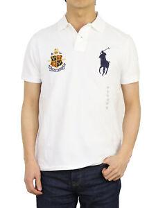 Polo Ralph Lauren Big Pony Custom Slim Fit Short Sleeve Polo Shirt with Emblem