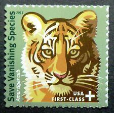 B4 Mnh 2011 44 + 11c Save Vanishing Species Amur Tiger cub wildlife habitat