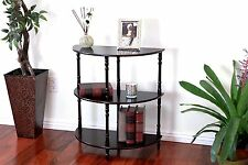 Wood 3-Tier Crescent ,Half Moon ,Hall / Console Table/End Tbl in expreso Finish