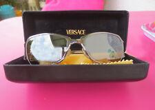 Versace Damen Sonnenbrille Metall Kupfer/Braun Verspiegelt Mod. X96 Col. 89M/434