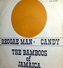 "REGGAE MAN RARE COVER    7"" THE BAMBOOS OF JAMAICA CANDY ITALY 1970"