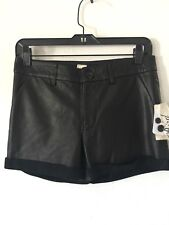 Nwt Bird By Juicy Couture 100% Leather Shorts Sz 0