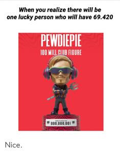 Pewdiepie 100 Million Figure - STILL IN BOX, UNKNOWN NUMBER