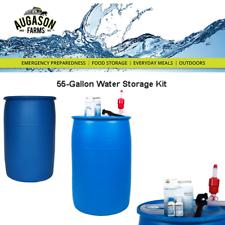 55 galones Kit de suministro de agua de emergencia de almacenamiento de hasta 4 años de vida útil Purificador