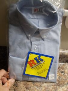 New in Package RK Rifle/Kaynee Boys Long Sleeve Size 14 Button Down School Shirt