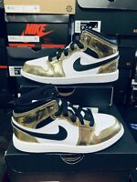 Nike Air Jordan 1 Mid SE Metallic Gold/Black-White DC1419-700 (PS)13C DS 2020