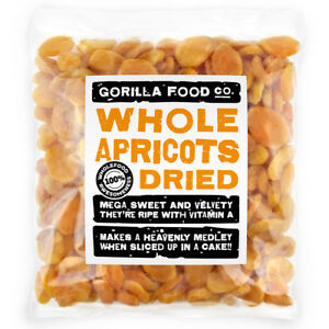 Gorilla Food Co. Whole Dried Apricots - 200g - 3.2kg