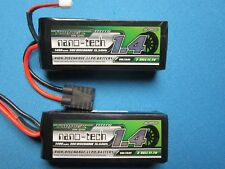 2 NANO-TECH 1400mAh 3S LIPO BATTERY TRAXXAS MINI 1/16 E-REVO SLASH SUMMIT VXL RC