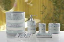 6 Piece Decorative Bathroom Accessory set Made of Ceramic (Venezia Aqua)