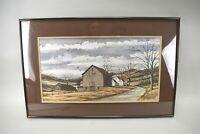 W. Ralph Murray Barns Signed Framed Art Print Farm House