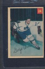1954/55 Parkhurst #024 PB George Armstrong Maple Leafs VG/EX *21