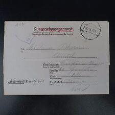 LETTRE PRISONNIER GUERRE STALAG XX B PR SAINGHIN EN WEPPES KRIEGSGEFANGENENPOST