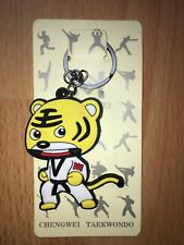 Martial Arts YELLOW Tiger Key rings Key Chain Taekwondo Keychain Size 7 x 4cm