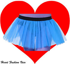 Blue tutu skirt Petticoat Adult Women Fairy Butterfly Dance Party Halloween Day