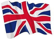 Aufkleber wehende Flagge Grossbritannien Fahne wehend 8,5 x 6 cm Autoaufkleber