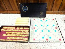 Vintage SCRABBLE Crossword Board Game by Selchow & Righter *COMPLETE*