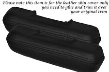BLACK STITCH 2X FRONT DOOR HANDLE ARMREST SKIN COVERS FITS FORD MUSTANG 65-68