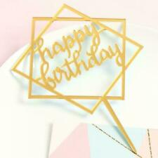 Cake Happy Birthday Cake Topper Card Acrylic Cake Party Decoration Supply CL