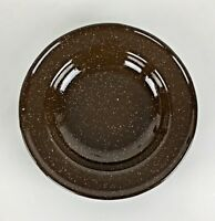 "Enamel Enamelware Graniteware Cereal Soup Bowl Dish 8 3/4"" Camping Fishing Gift"