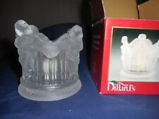 New listing Frosted Crystal Cherub Votive Angel Candle Holder or Candy/Nut Dish Dillard's