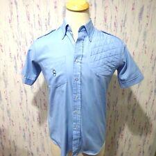 Orvis Designed by Bob Allen Mens Blue Shooting Shirt Left Padded Size Medium