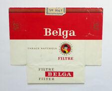Old Vintage Belgium Cigarette - Tobacco Packet Label. Belga