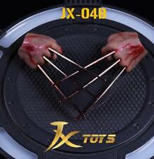 1/6 Wolverine Logan metal claw w/ blood hands realistic hair for Hot Toys B