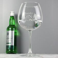 PERSONALISED Engraved Balloon Gin & Tonic Glass Birthday Gift Present Idea
