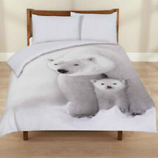 Ex-Chainstore 3D Polar Bear Animal Print Duvet Cover with Pillow Cases King Size
