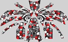 Graphic Kit for 2004-2013 Honda CRF 250X CRF250X Skull Decal fender shrouds