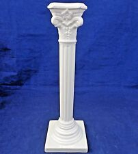 "Antique Georgian Style English Creamware Ionic Column Candlestick c 1900 12"" H"