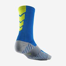 NIKE MatchFit Soccer/Football Crew Socks SX4854-433 M (6-8) Blue / Volt