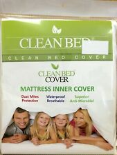Cleanbed Mattress Inner Cover Fitted Protector Pad Fabric Waterproof Bug Mite