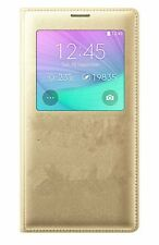 For Samsung Galaxy Note 3 Case, S View Flip Cover Folio Case Gold