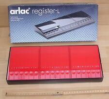 großes Arlac - Telefon Register L in Karminrot - Neu