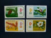 USA 1969 #1376-1379 $.06 11th International Botanical Congress Issue Set of 4
