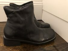 New Anne Klein Ankle black leather boots zipper 8.5