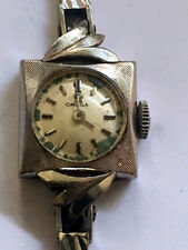 Vintage 1965 Ladies Omega cal. 484 manual solid 14K white gold watch. Runs well