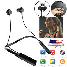 Bluetooth Headset Headphones Wireless Magnetic Earbuds For Android phone Lg Oppo