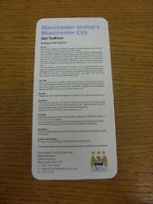 08/04/2013 Manchester City Away Travel Guide: Manchester United v Manchester Cit