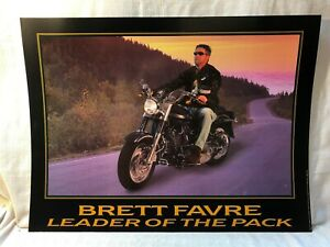 Brett Favre Green Bay Packers Leader of the Pack Harley Davidson Lithograph
