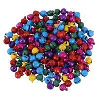 6MM 200 pcs/lot Mix Colors Loose Beads Small Jingle Bells Christmas Decorat V5V3