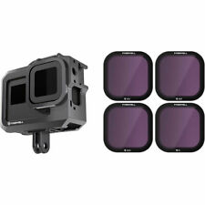 Filter Kit for GoPro Hero8, INCLUDES CAGE, ND4, ND8, ND16, PL Lenses, Freewell