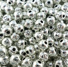 40pcs Tibetan Silver Dainty Heart Round Ball Spacer Beads 5mm Jewelry Findings