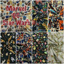 Marvel DC Star Wars Avengers Superman Batman Comic 100% Cotton Patchwork Fabric