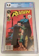 ROBIN #1 (1991 DC) CGC 9.8 WP *NEWSSTAND SECOND PRINT (ULTRA RARE)*