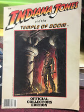 Indiana Jones Temple of Doom Official Collector's Edition Book Paperback