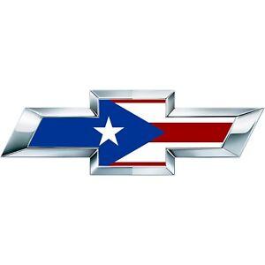 2 Silverado Puerto Rico Flag Universal Chevy Bowtie Vinyl Emblem Overlay