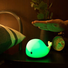 USB Charge Cute Sensitive LED Dolphin Night Light Kids Bedroom Animal Lamp