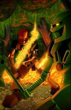 "Original LEGO Art Bionicle Toa Lewa Tahu 11""x17"" Poster"